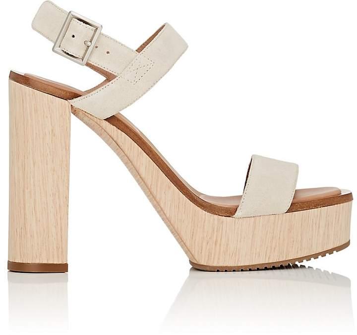 Calvin Klein CALVIN KLEIN WOMEN'S FAUNA BIS SUEDE PLATFORM SANDALS