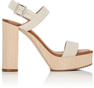 Calvin Klein WOMEN'S FAUNA BIS SUEDE PLATFORM SANDALS