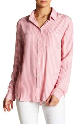 BeachLunchLounge Long Sleeve Striped Button Up Blouse