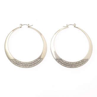 clear BIJOUX BAR Bijoux Bar 2 Inch Hoop Earrings