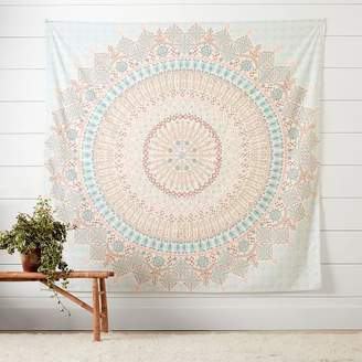 Pottery Barn Teen Mandala Tapestry, Blue/Orange, Blue/Orange Mandala Tapestry