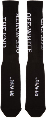 Off-White Black 'The End' Socks $75 thestylecure.com