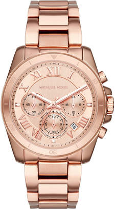 MICHAEL Michael Kors 40mm Jet Set Chronograph Bracelet Watch, Rose