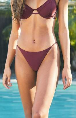 Salero Swim Cranberry Skinny String Bikini Bottom