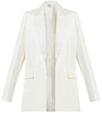 Amanda Wakeley Linen Blend Peak Lapel Jacket - Womens - Ivory