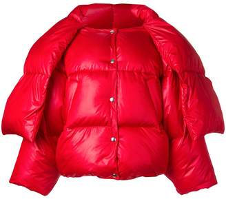 Hache scarf tie puffer jacket
