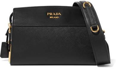 Prada - Esplanade Textured-leather Shoulder Bag - Black