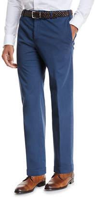 Zanella Garment-Dyed Stretch-Poplin Pants