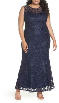 Marina Soutache Fit & Flare Gown