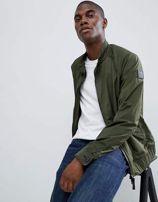 BOSS Osames harrington jacket in khaki