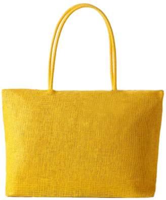 Tonwhar 2015 Summer Straw Woven Shoulder Tote Shopping Beach Bag Handbag