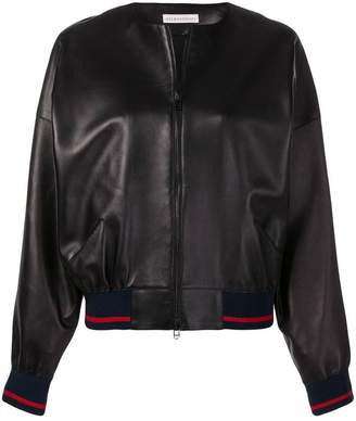 Inès & Marèchal leather bomber jacket