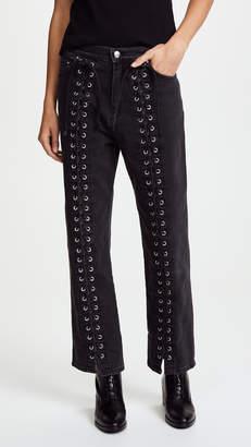 McQ Alexander McQueen Front Lace Jeans