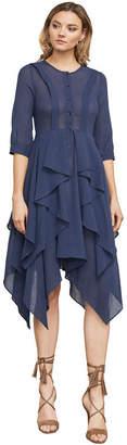 BCBGMAXAZRIA Jovita Asymmetrical Ruffle Dress