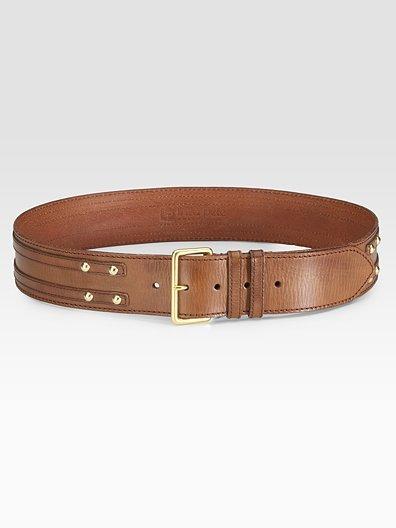 Linea Pelle Leather Overlay Hip Belt