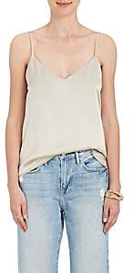 L'Agence Women's Jane Silk Charmeuse Top - Platinum