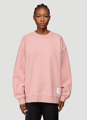 Acne Studios Wash Label Sweatshirt in Pink