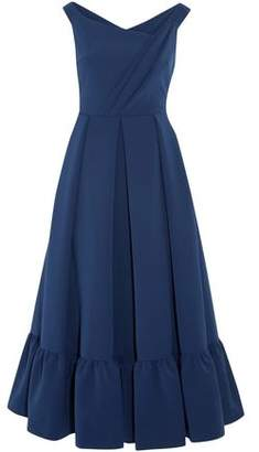 Preen by Thornton Bregazzi Palmer Wrap-Effect Pleated Crepe Midi Dress