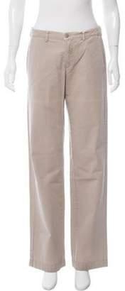 Massimo Alba Mid-Rise Wide-Leg Pants w/ Tags Khaki Mid-Rise Wide-Leg Pants w/ Tags