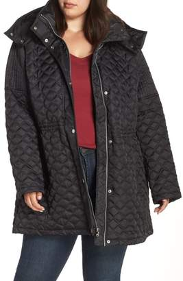 Andrew Marc Quilted Coat with Detachable Hood
