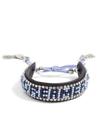 Rebecca Minkoff Dreamer Seed Bead Leather Bracelet