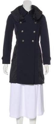 Moncler Hooded Double-Breasted Coat blue Hooded Double-Breasted Coat