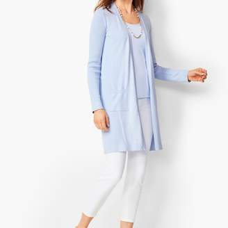 Talbots Pima Open-Front Duster - Marled