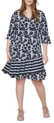 Junarose Plus Lea Three-Quarter Sleeve On-Knee Dress