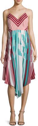 Plenty by Tracy Reese Striped Scarf Dress