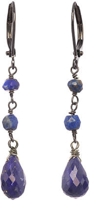 Rachel Reinhardt Silver Blue Lapis Drop Earrings
