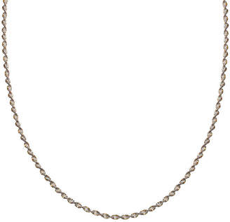 STERLING SILVER CHAINS Silver Reflections Two-Tone Sterling Silver Butterfly Twist 18 Chain Necklace
