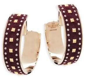 Valentino Studded Clip-On Hoops