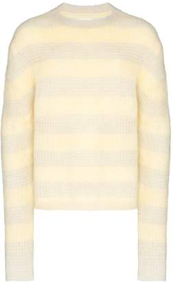 Jil Sander fluffy striped sweater