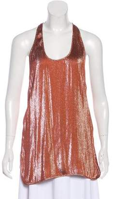 Gucci Sleeveless Metallic Top