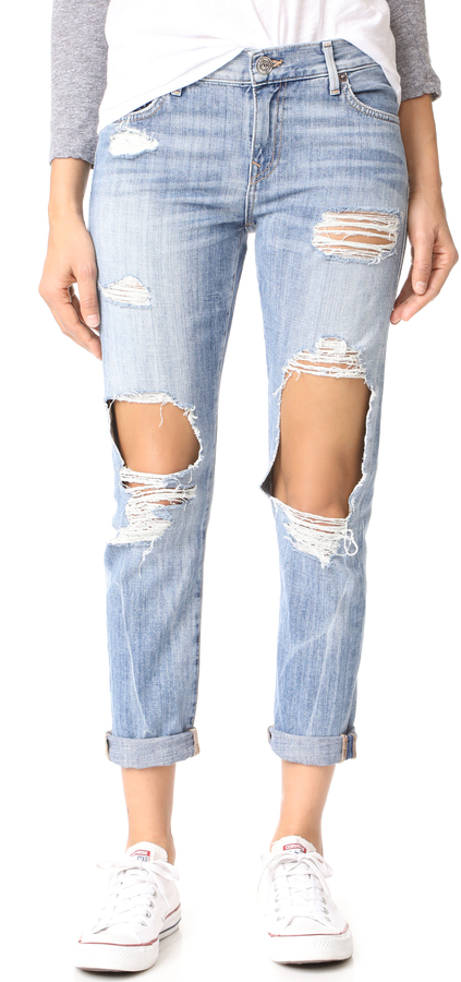 True Religion Cameron Distressed Slim Boyfriend Jeans