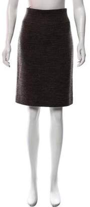 Les Copains Virgin Wool Tweed Skirt
