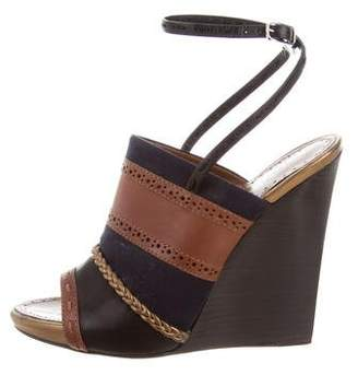 Proenza Schouler Perforated Leather Wedges