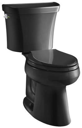 Kohler Highline Comfort Height Two-Piece Elongated Dual-Flush Toilet with Class Five Flush Technology and Left-Hand Trip Lever