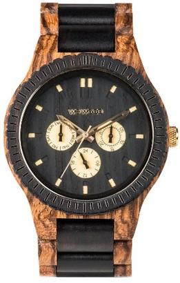 Men's Wewood Kappa Multifunctional Wood Bracelet Watch, 46Mm $159.95 thestylecure.com