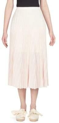 Cédric Charlier Knit Plisse Skirt