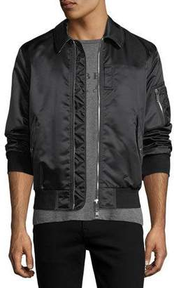 Burberry Pipley Satin Bomber Jacket