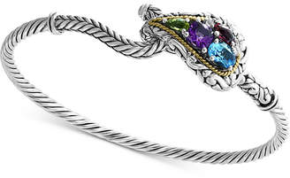 Effy Multi-Gemstone Bracelet (2-1/3 ct. t.w.) in Sterling Silver & 18k Gold