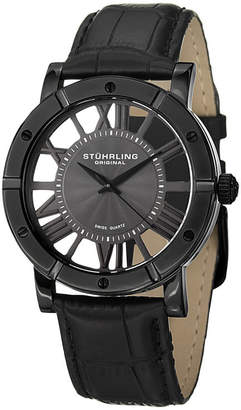 Stuhrling Original Mens Black Strap Watch-Sp14831