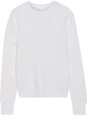 Victoria Beckham Silk-paneled Cashmere Sweater