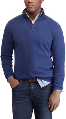 Chaps Men's Regular-Fit Mockneck Quarter-Zip Pullover