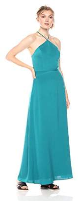 Paris Sunday Women's Halter Neck Maxi Dress with Tie and Open Back Detail