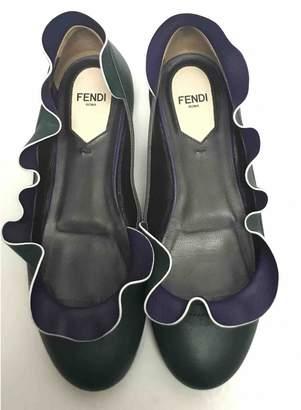 Fendi Green Patent leather Ballet flats