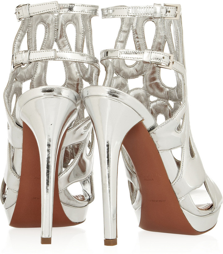 Alaia Metallic leather sandals