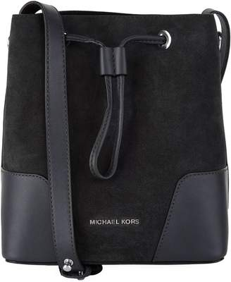 MICHAEL Michael Kors Small Suede Cary Bucket Bag
