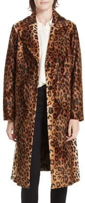 Helene Berman Faux Leopard Fur Coat